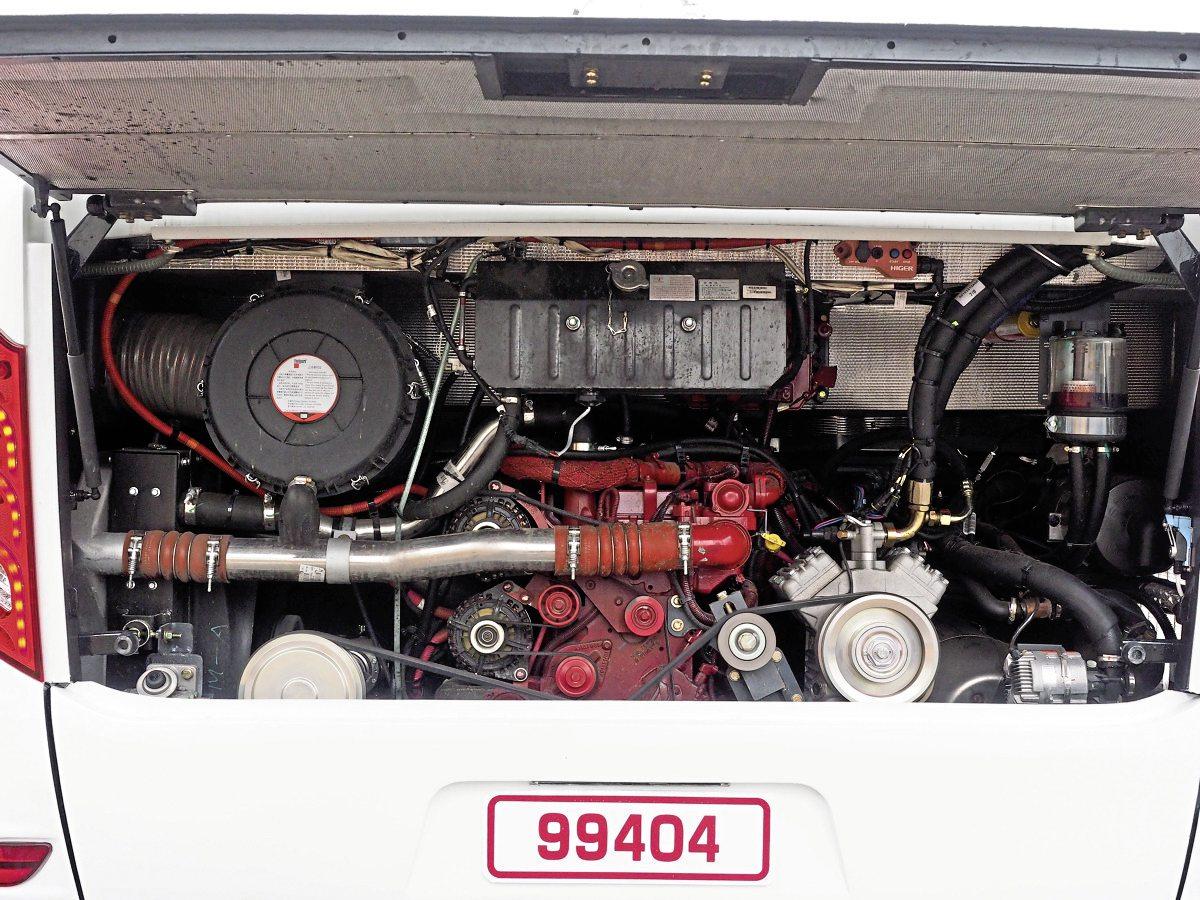 The engine is a British-made Cummins