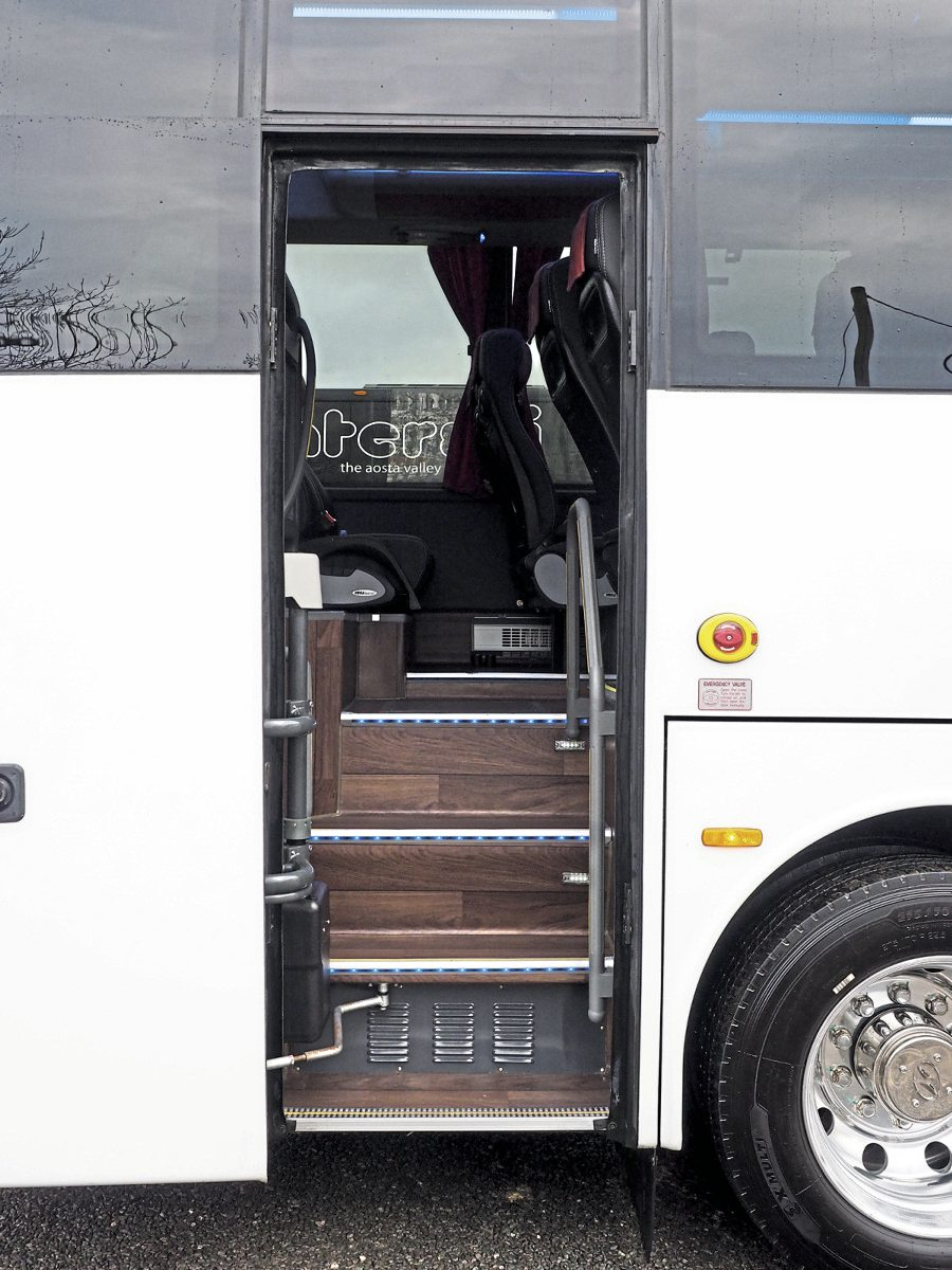 The continental door is very usable
