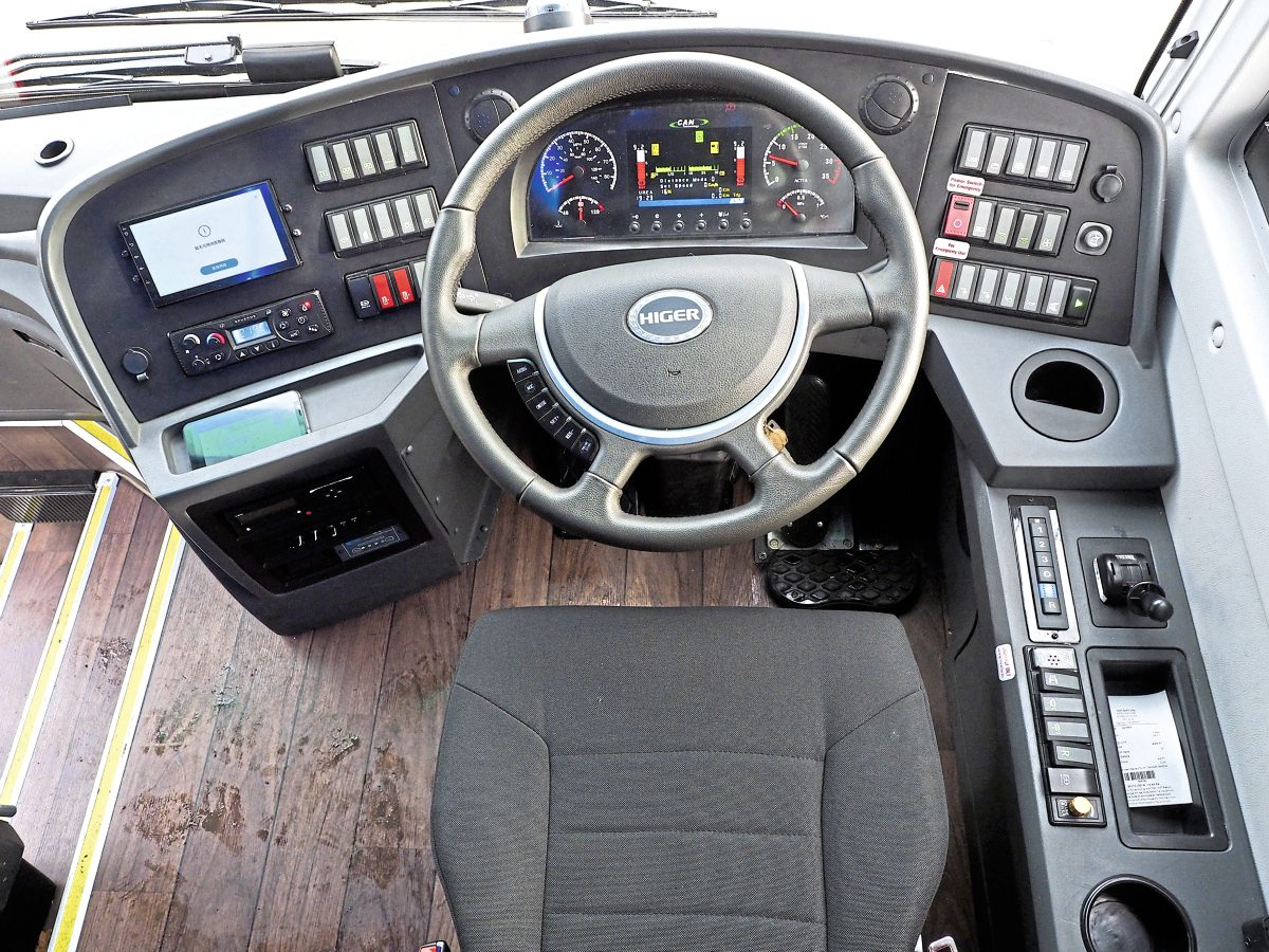 Ergonomically, the dashboard is fine