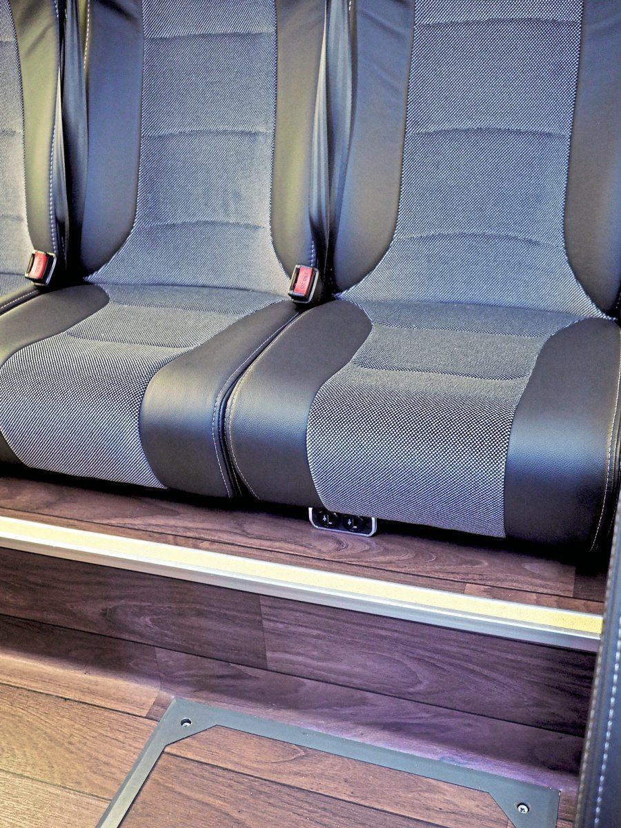 Rear seats sit well back on plinth