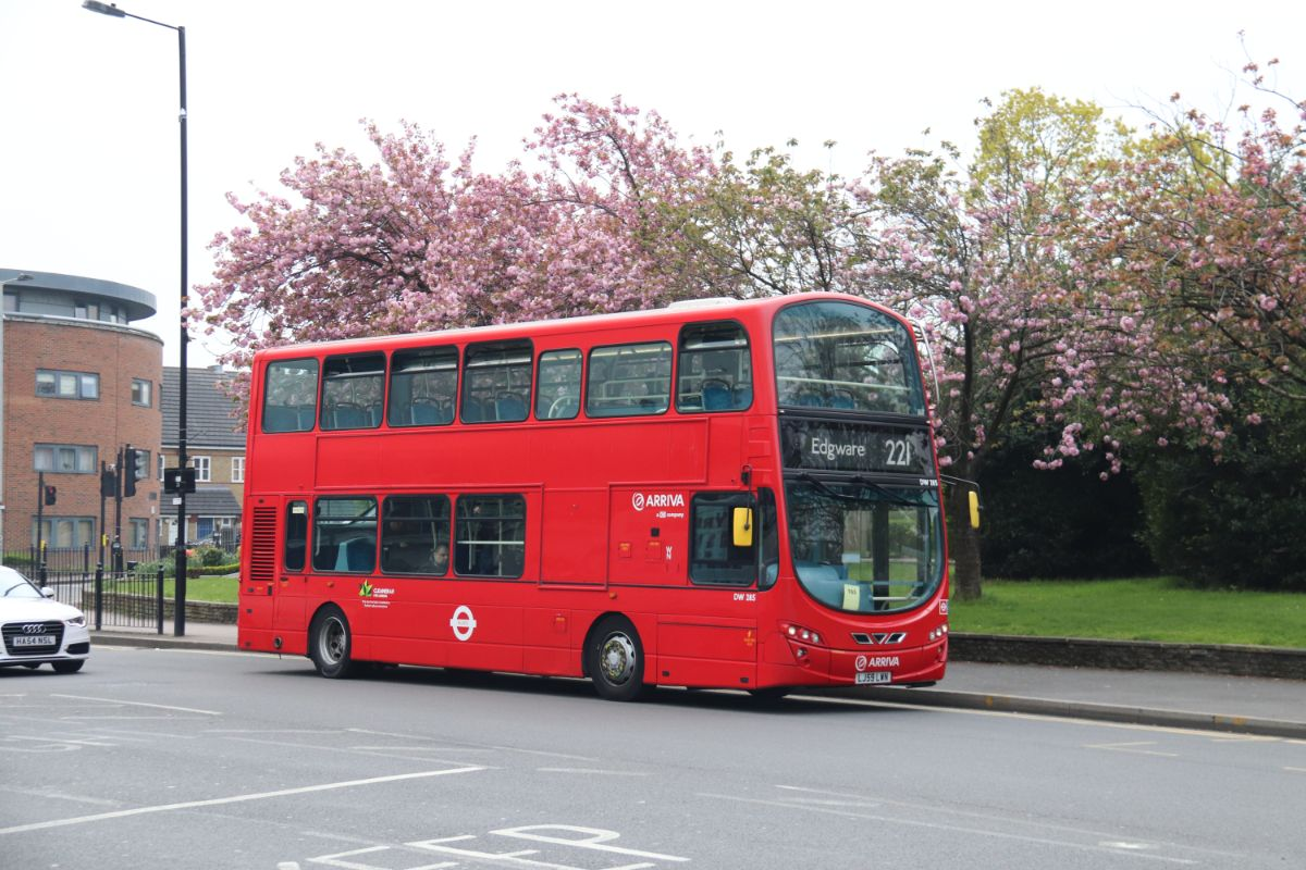 Arriva has the contract for the 221 using Wright bodied Volvos dating from 2010