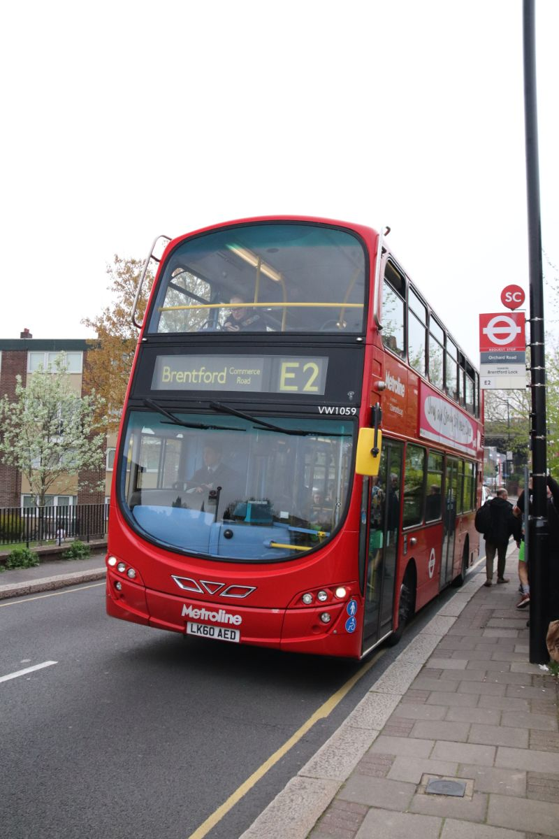 Metroline provided this ADL Enviro 400 on the E2