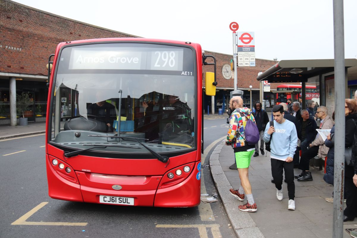 Our second Sullivan Buses bus of the day was a 2011 Enviro 200 on the 298