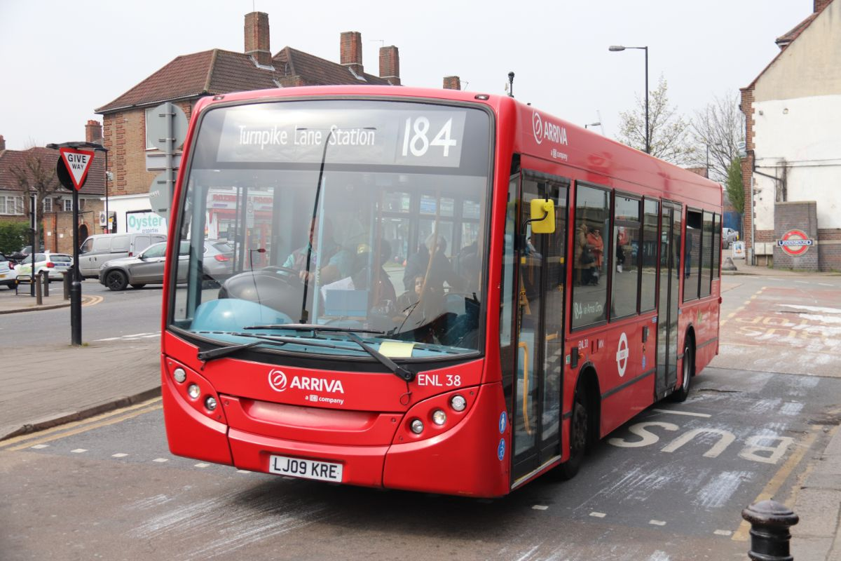 Arriva supplied the ADL Enviro 200 for the 184 from Arnos Grove to Bounds Green