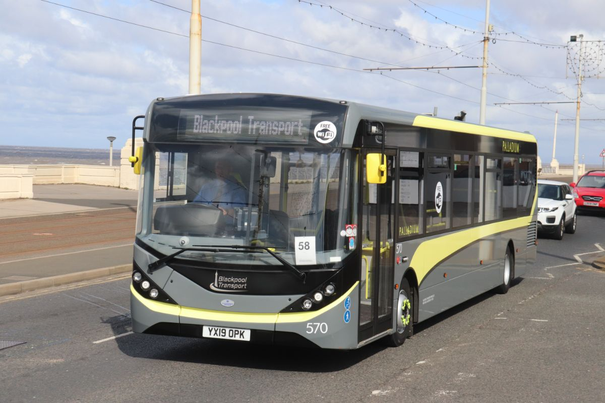Blackpool Transport provided two buses, one of which was this ADL Enviro200 MMC. Driver 58 of Stagecoach East Scotland was Steven Fiddes