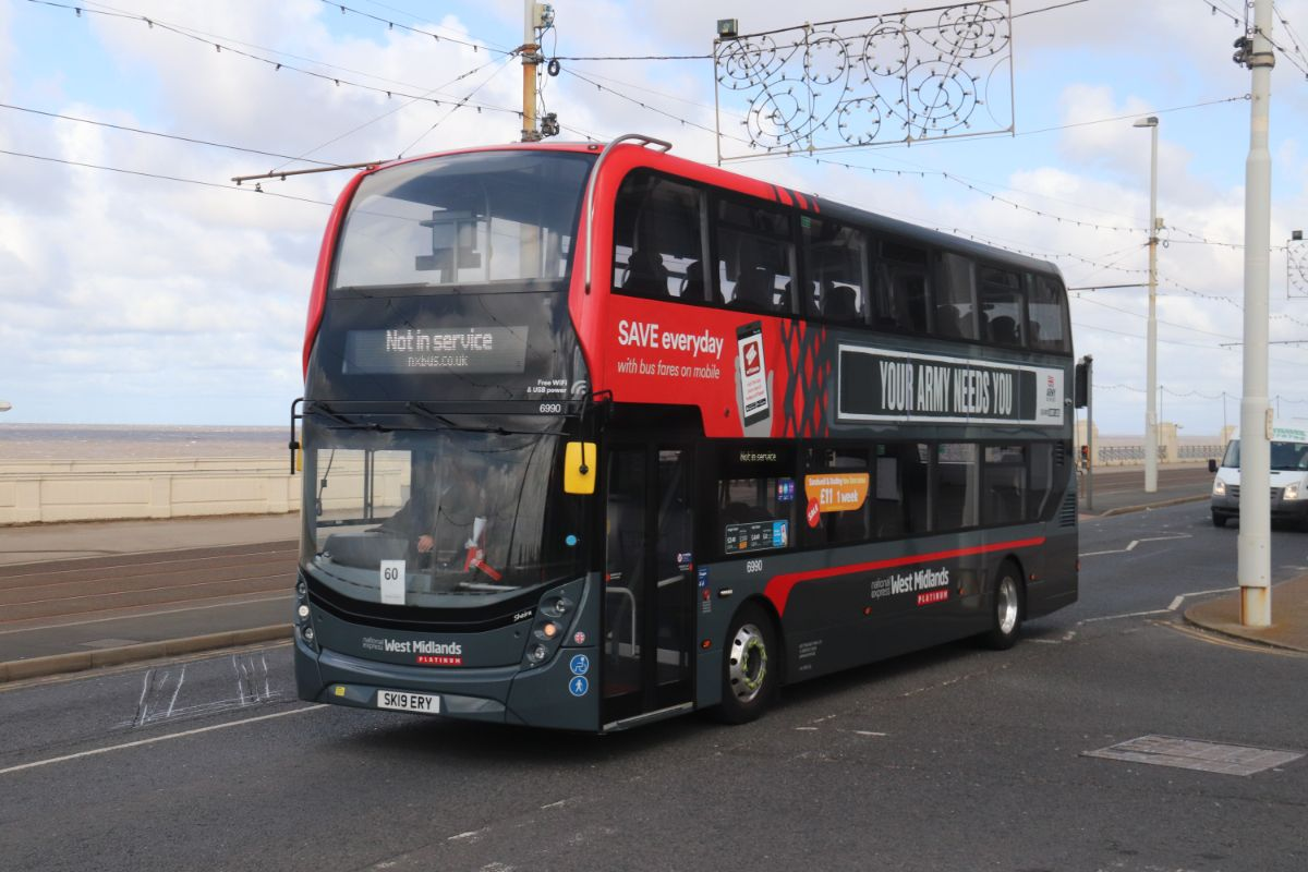 Last year's winner, Ian Field of Stagecoach East Scotland, in a National Express West Midlands ADL Enviro400 MMC. Ian finished 37th this year