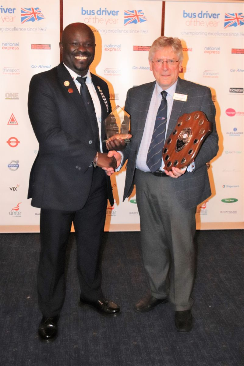 Stephen Appiah from Go-Ahead London was the second highest placed London buses competitor winning the London Buses Shield and £500