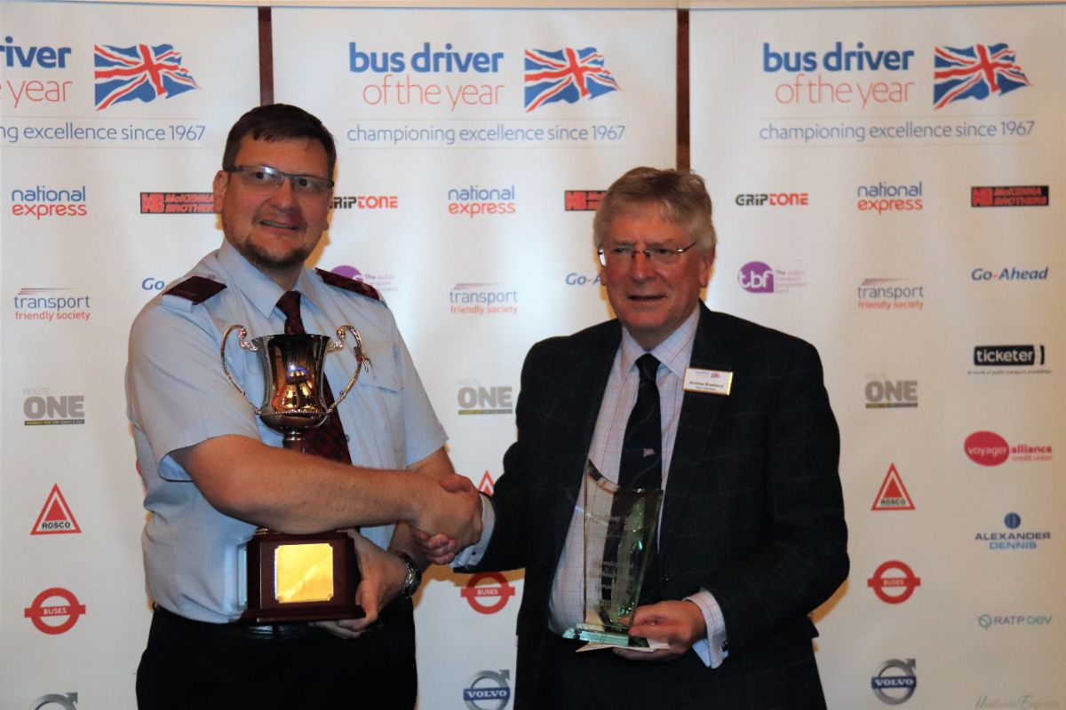 In fifth place overall as well as taking the Go Ahead trophy for the highest placed Go Ahead driver was Steven Williams of the Oxford Bus Company