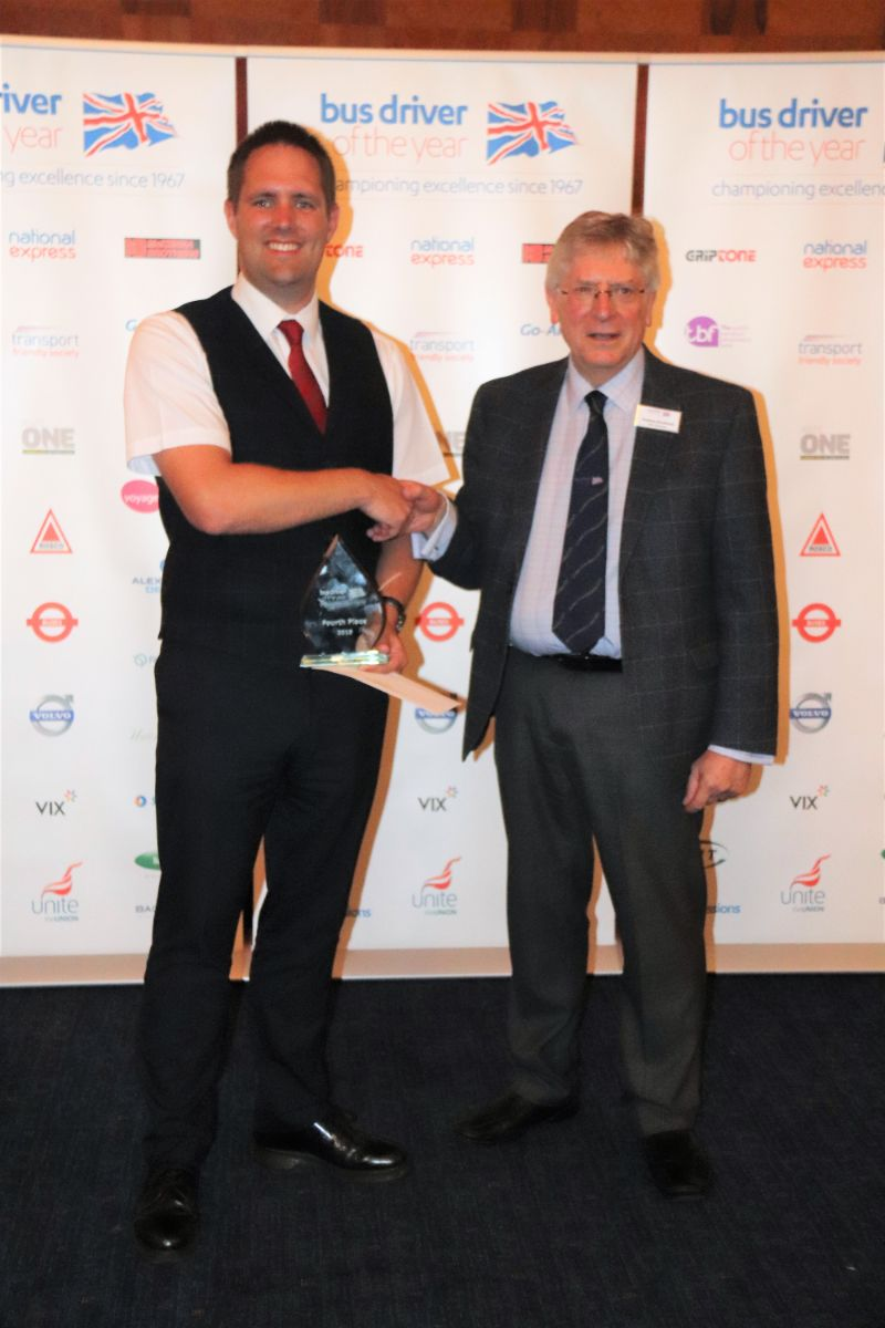 Stephen Wibden of Lothian Buses finished in fourth place winning £750 and a BDOY trophy
