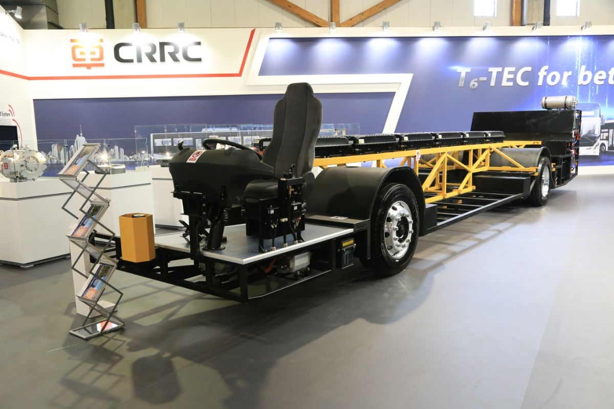 CRRC electric bus chassis