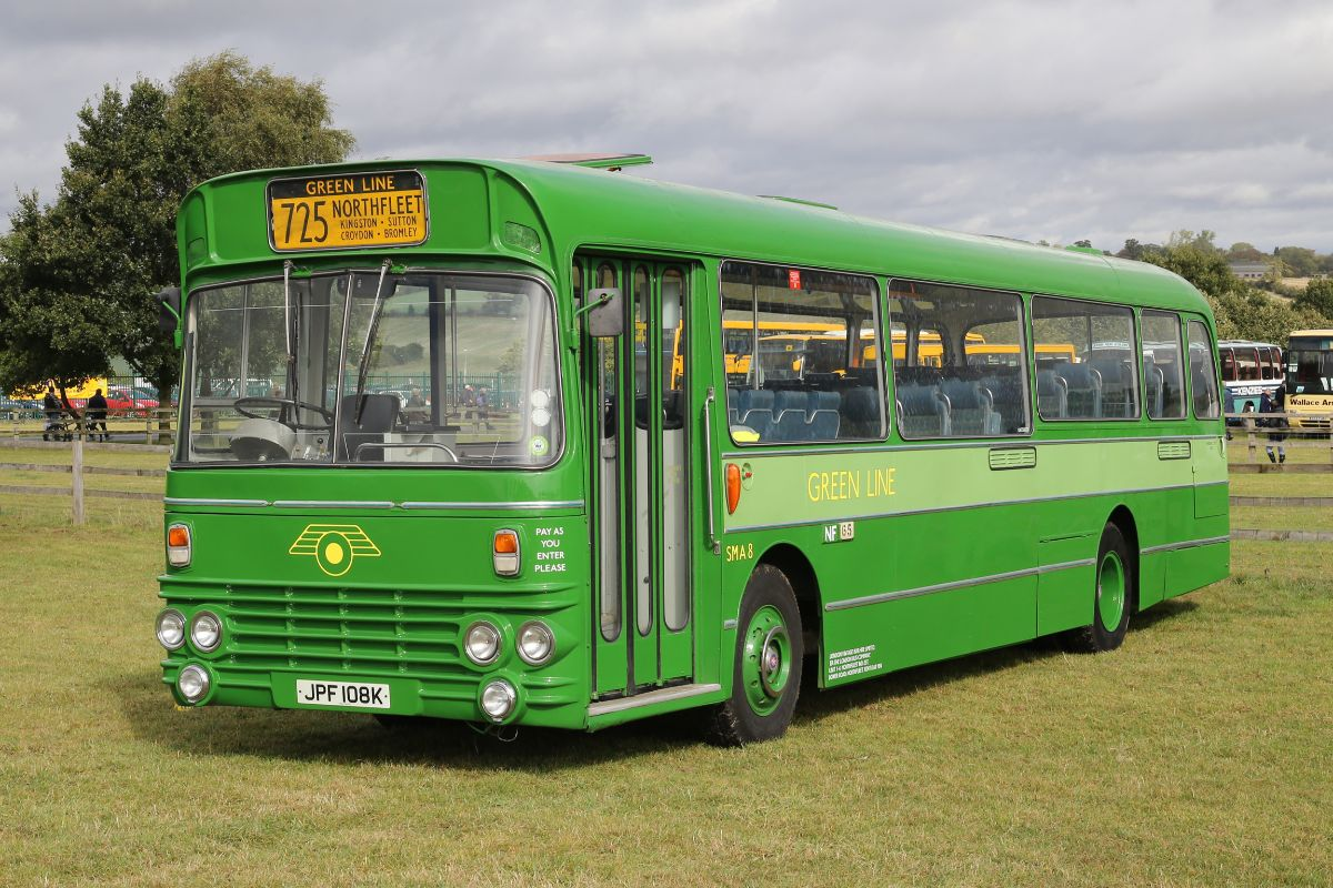 London Country's shortage of modern coaches for Green Line work in the early 1970s resulted in some unusual vehicles being delivered to coach specification including this recently restored Alexander W bodied AEC Swift now owned by The London Bus Company