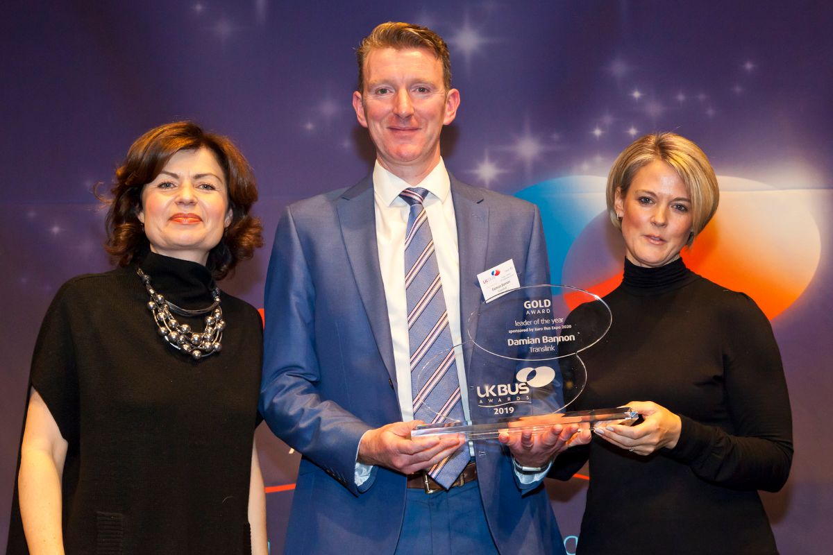 Leader of the Year, sponsored by Euro Bus Expo 2020 - Damian Bannon – Translink