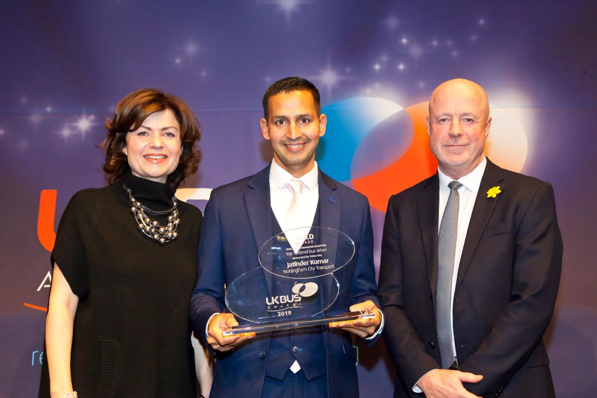 Top National Bus Driver: the Chris Moyes Memorial Award, sponsored by Volvo Bus - Jatinder Kumar, Nottingham City Transport