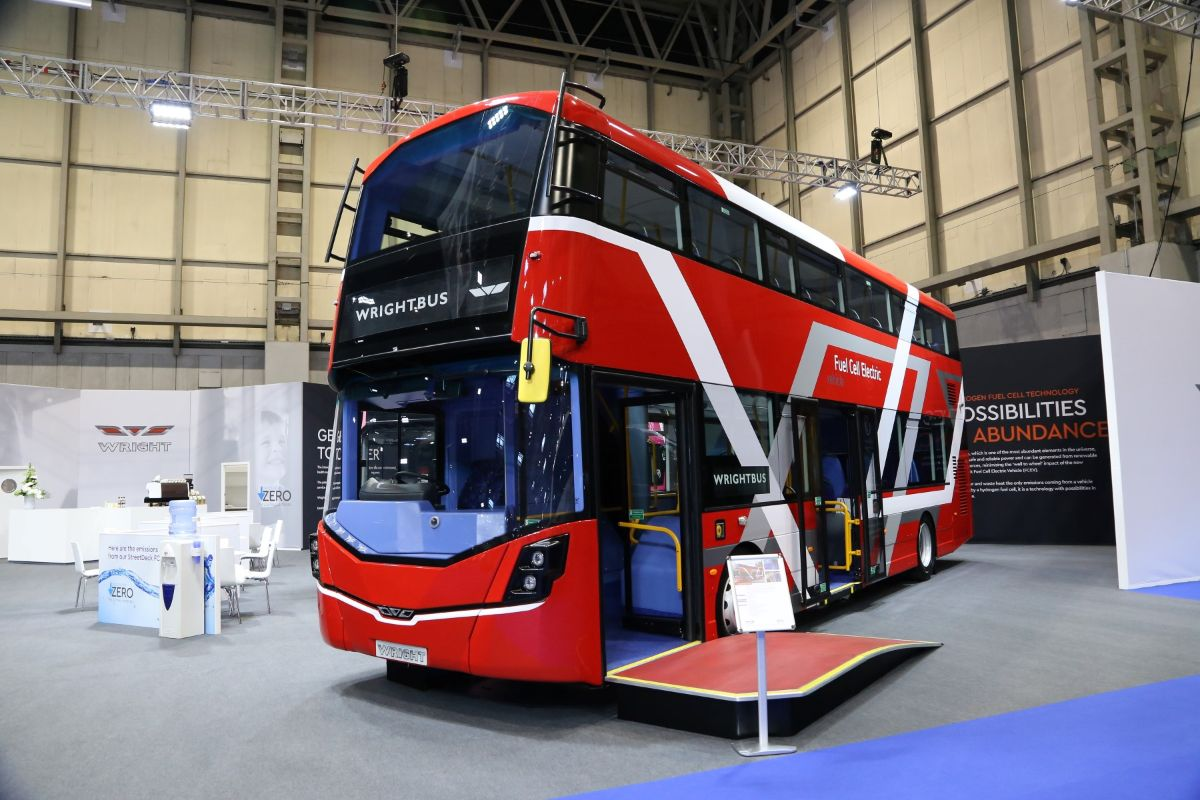 Wrightbus showed a hydrogen fuel cell Streetdeck at EuroBusExpo 2018