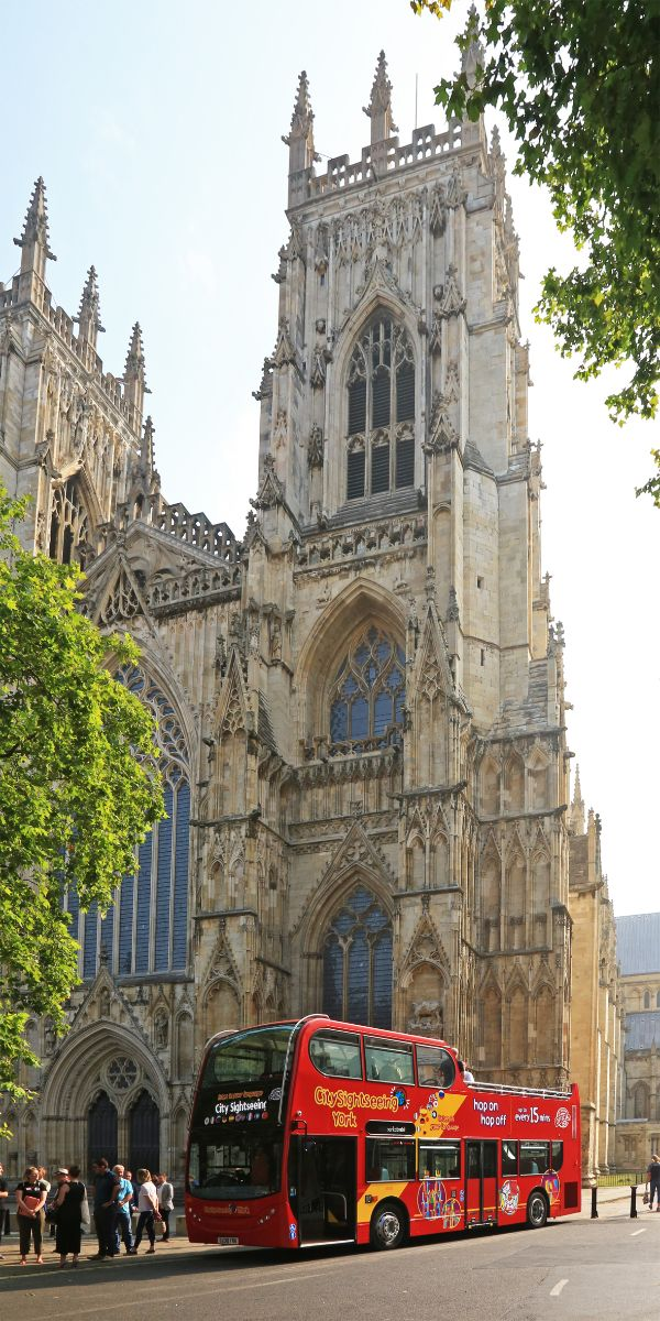York Minster provided an imposing backdrop to the launch event
