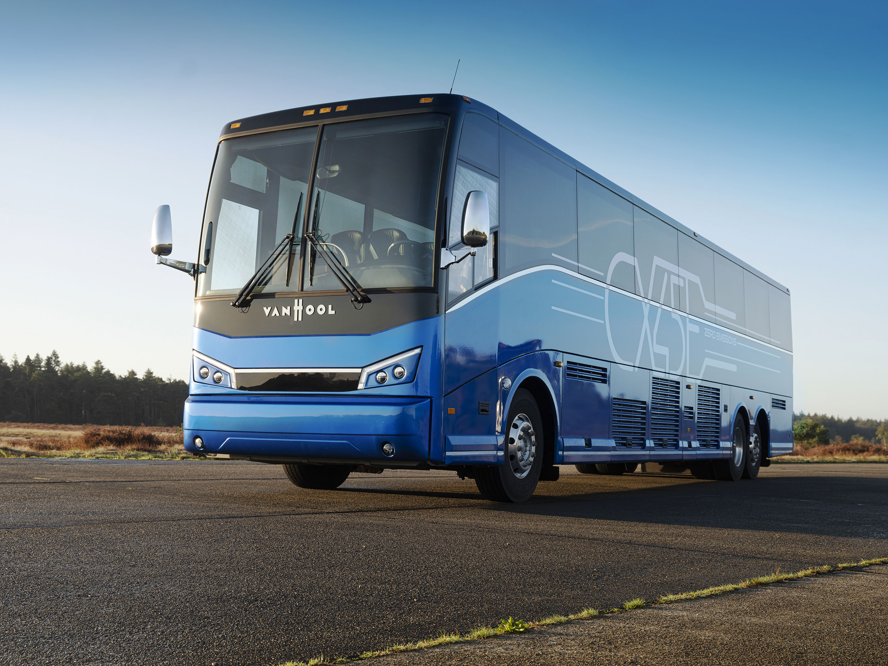 Van Hool ships first electric coach to US