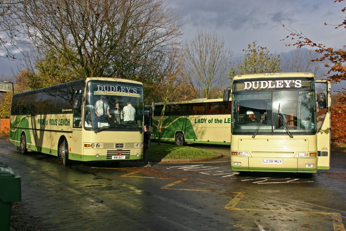 In the lead up to Christmas 2005 four of the fleet were on a school private hire in Bromsgrove
