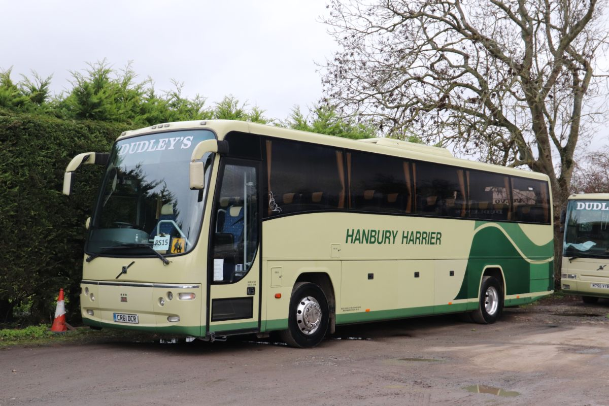 Displaying the smart appearance for which the Dudley's fleet is renowned is a 57-seat Plaxton Panther bodied Volvo B9R, one of three brand new coaches purchased between 2010 and 2012