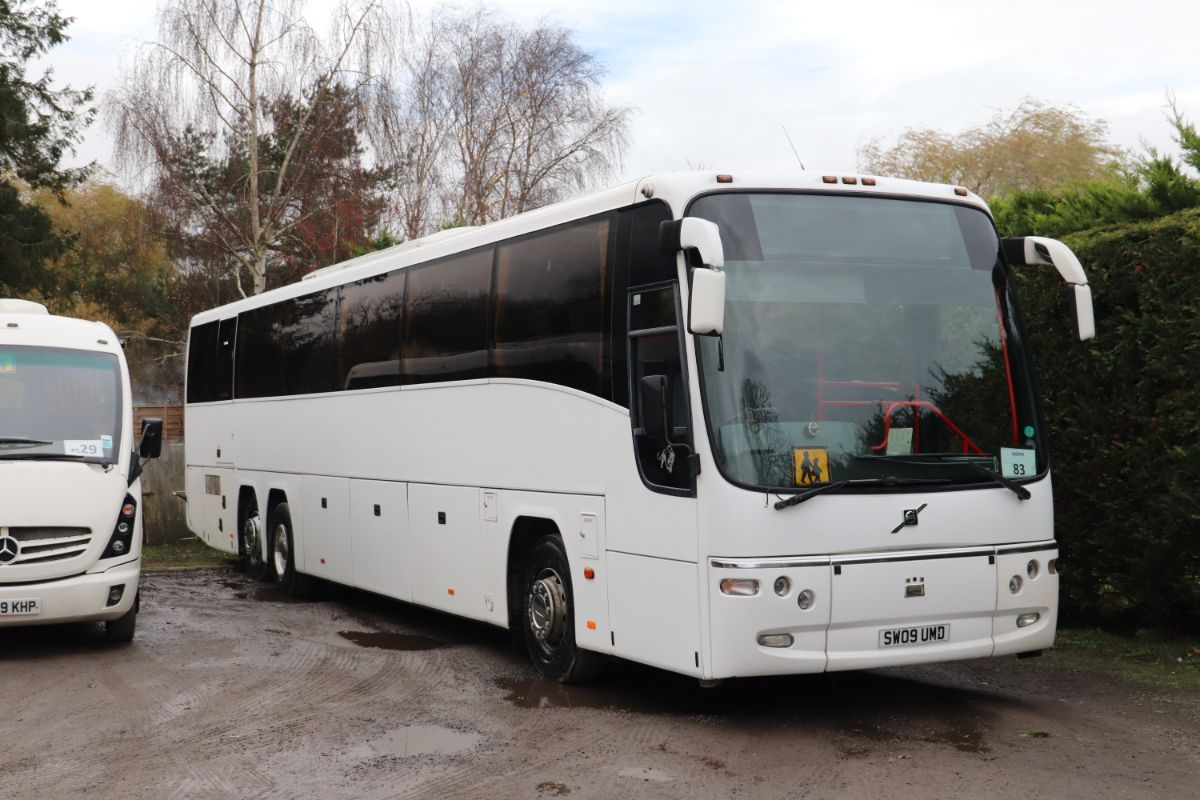 PSVAR compliant with 2+2 seating for 71, this Volvo B12M Plaxton Panther was the last full sized coach purchased by Dudley's. The 15m coach has proved more flexible in operation than Chris feared