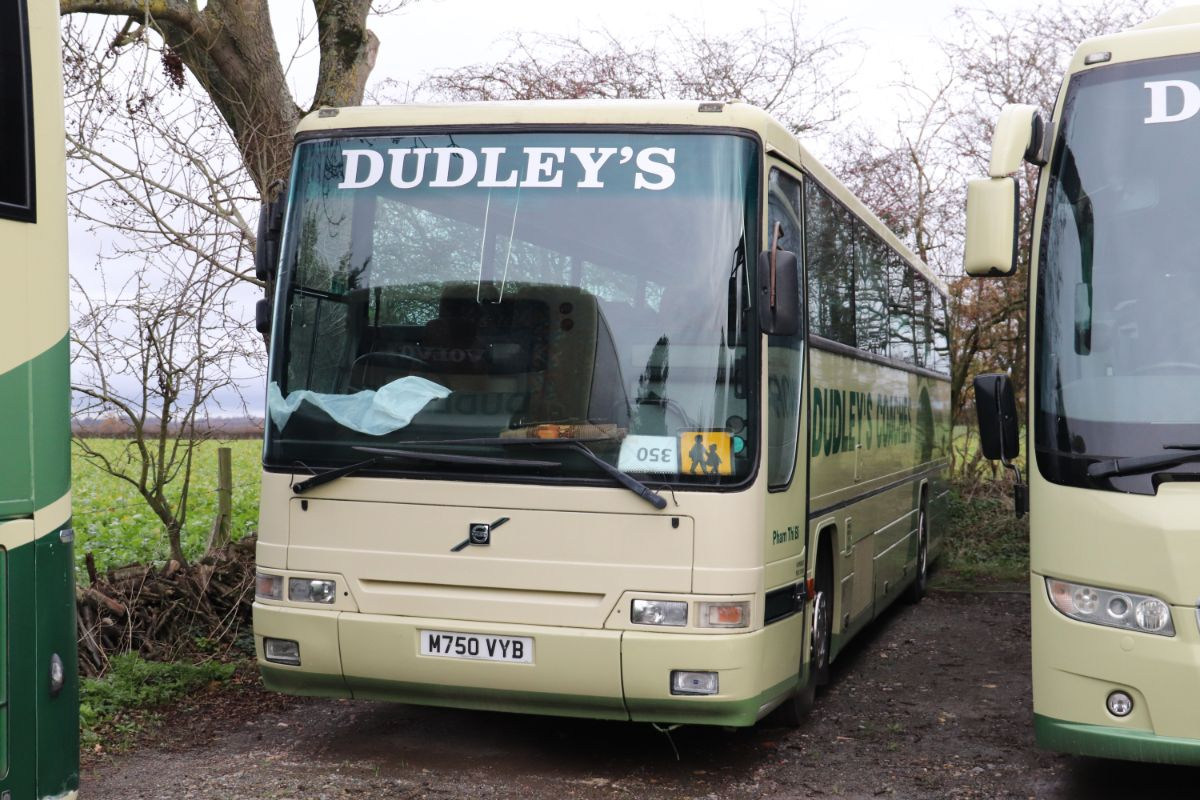 The oldest coach in the operational fleet is this 57 seat Plaxton Premiere 320 bodied Volvo B10M