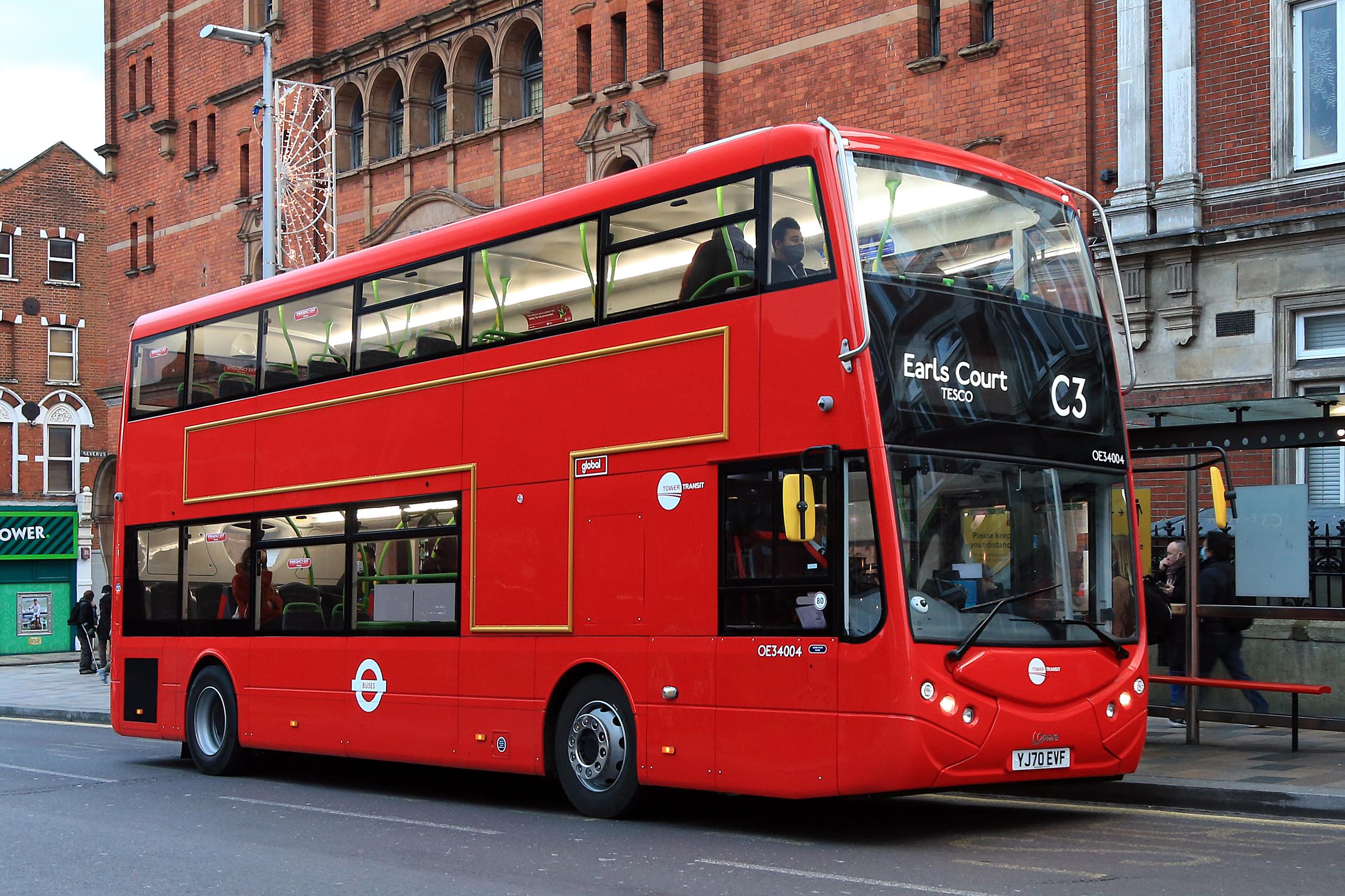 Tower Transit's Metrodecker EVs hit London's roads