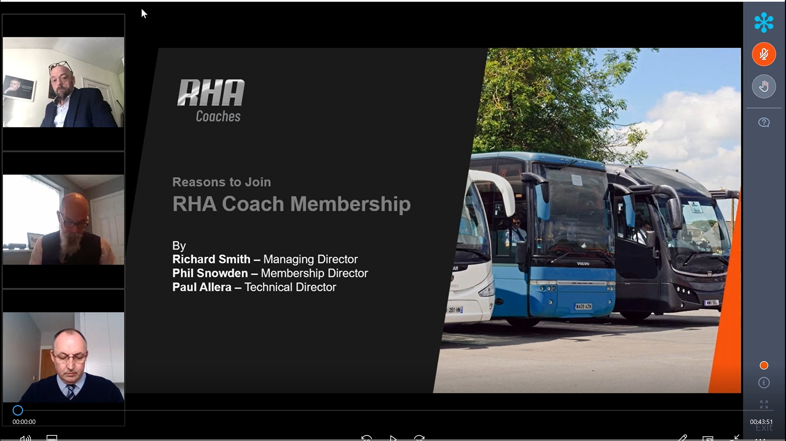 RHA stages second coach division launch webinar