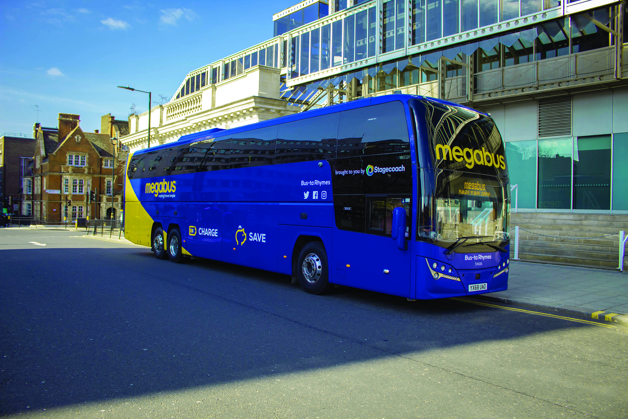 megabus teams up with Yellow Buses