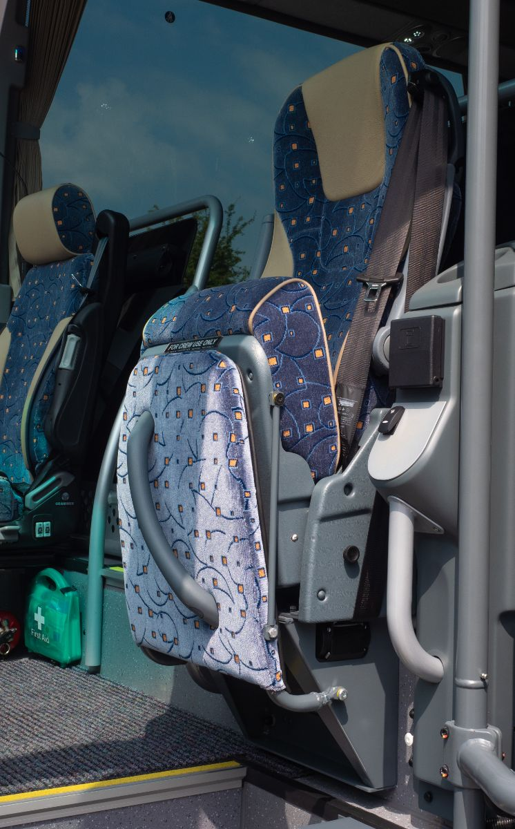 The Brusa courier seat with built-in footrest