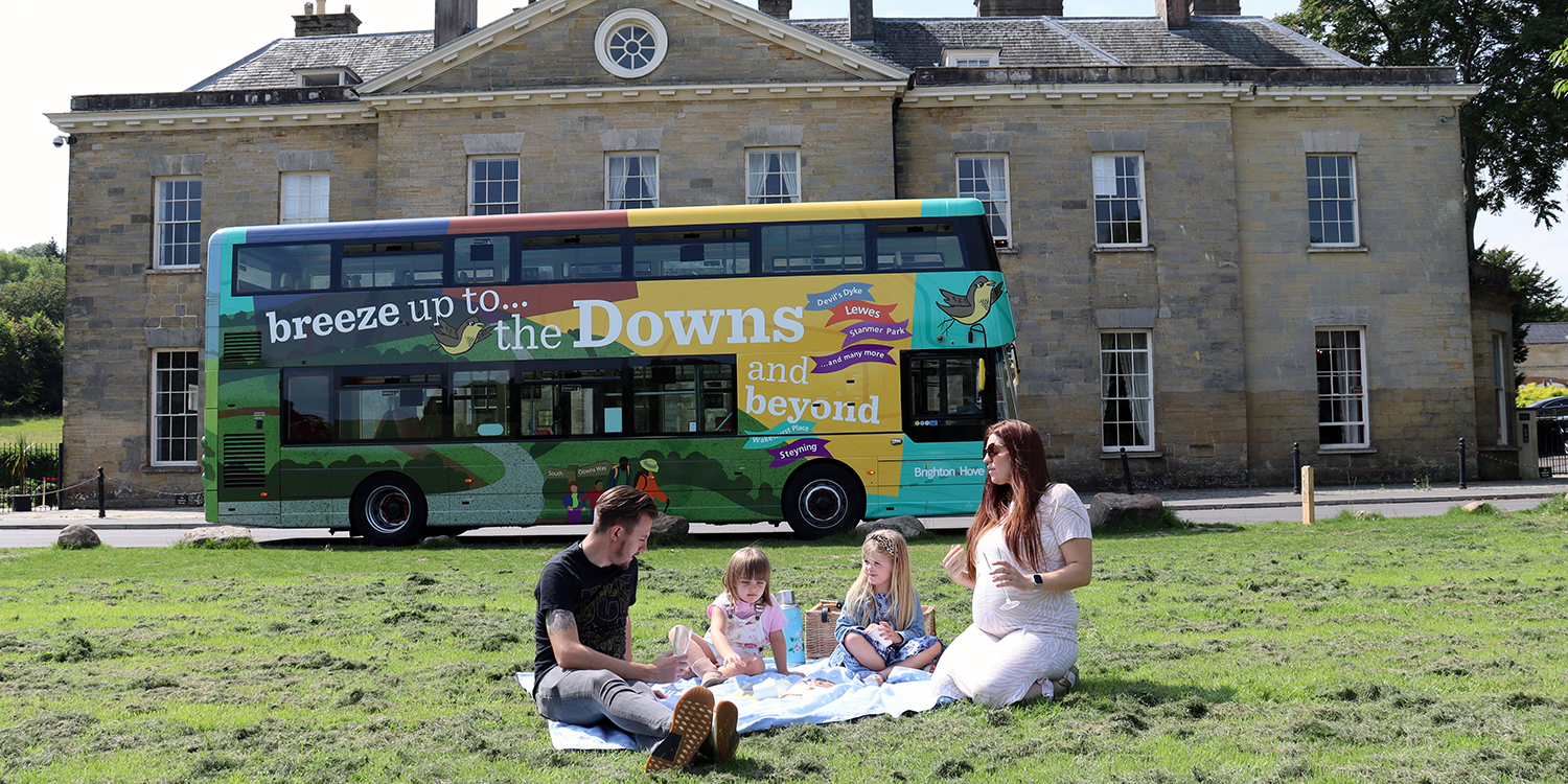 Brighton & Hove offers free bus travel to the Downs