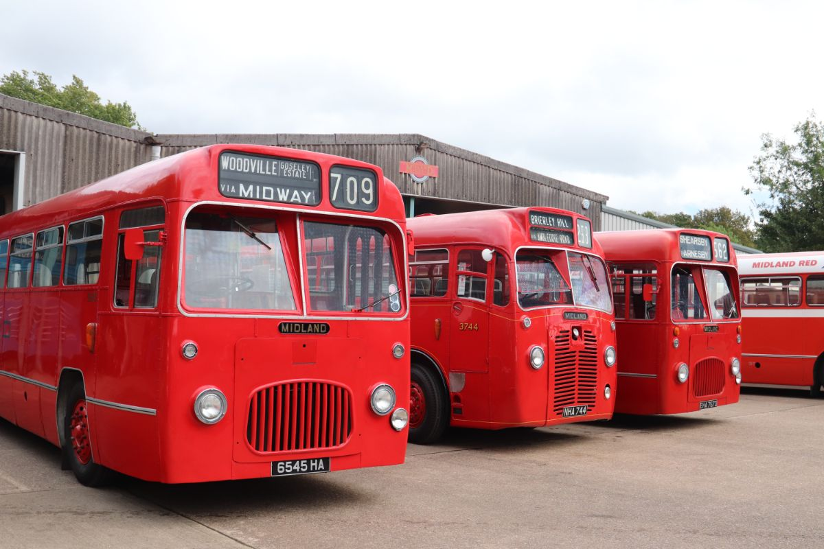 Midland Red built S15, S12 and S17 type buses